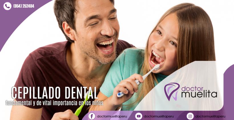 ¿Sabes cómo se hace un correcto cepillado de dientes en los niños?